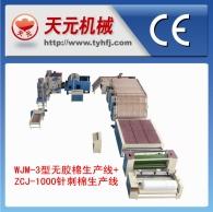 WJ-3 Tipo de algodón plástico + ZJ-1000 líneas de producción de algodón acupuntura